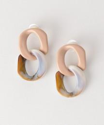 CFC 大理石鎖鏈 耳飾