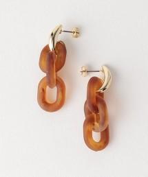 CFC 大理石鎖鏈 金屬配件耳飾