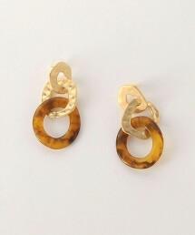 CFC W金屬片 & 大理石紋耳釘
