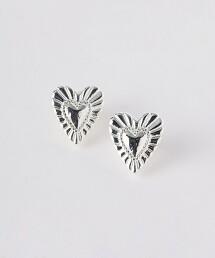 SC HEART 貝殼紋 耳環
