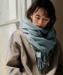 FFC  羊毛素色 披肩圍巾