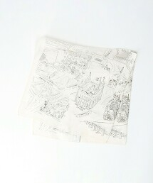 蠶絲 拚色 迷你 方巾 日本製