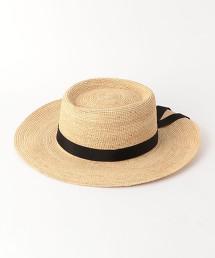 CFC 拉菲草 綁帶平頂帽