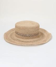 CFC 拉菲草 鏤空編織平頂帽