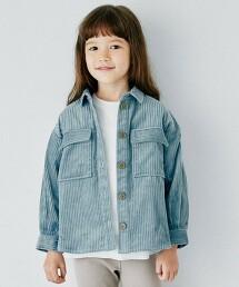 【KIDS】寬幅燈心絨CPO襯衫