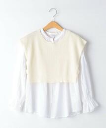 TJ 楊柳罩衫+針織背心套組 100cm-130cm -可手洗-