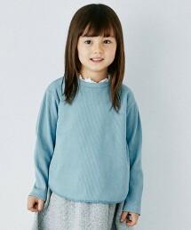 〔吸水速乾〕鬆餅織蕾絲 長袖罩衫