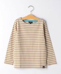 【童裝】橫條紋船領T恤