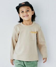 【KIDS】雙層紗 口袋長袖罩衫