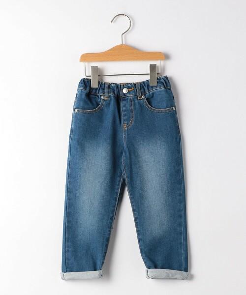 【KIDS】多臂織 丹寧錐形褲