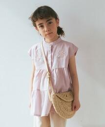 【KIDS】GLR 刺繡 束腰上衣