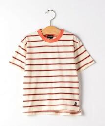 【KIDS】橫條紋領口配色T恤