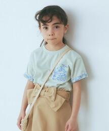 【KIDS】花朵口袋T恤