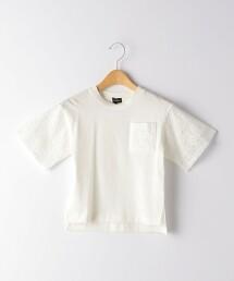 【KIDS】蕾絲口袋T恤