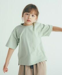 ◆有機棉 天竺素材 寬版T恤