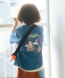 【KIDS】袖子拼接 TEE T恤