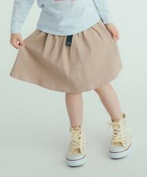 【KIDS】彈性 斜紋織 褲裙