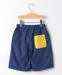 水滴刺繡口袋短褲