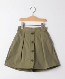 TJ 綾織 正面紐釦 褲裙 100cm-130cm -可機洗-