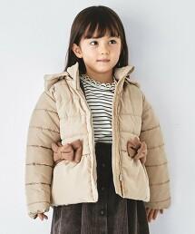 〔防潑水加工〕〔可手洗〕GIRLS 鋪棉蝴蝶結夾克