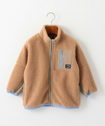 【KIDS】〔可手洗〕絨毛立領夾克