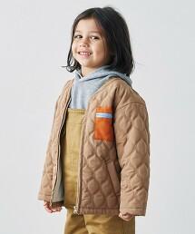 〔防潑水加工〕〔可手洗〕鋪棉 葫蘆型 衍縫夾克