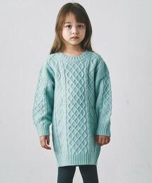 【KIDS】〔可手洗〕針織連身裙