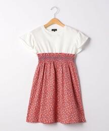 花朵層次風連衣罩裙