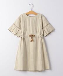 【KIDS】純棉 直條紋洋裝
