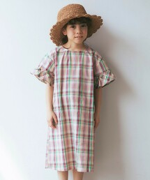 〔WEB限定〕馬德拉斯格紋 洋裝