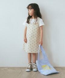 【KIDS】點點 層次風洋裝