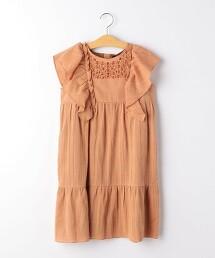 【KIDS】楊柳布 BIG摺邊 洋裝