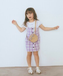 【KIDS】馬德拉斯格紋 層次風洋裝