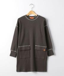 【特別訂製】<UNIVERSAL OVERALL>TJ EX 羅紋抽真 洋裝 100cm-130cm -手洗-