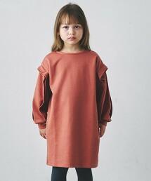 【KIDS】羅馬布荷葉邊連身裙