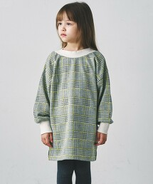 【KIDS】緹花格紋連身裙