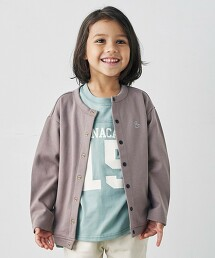 【KIDS】雙層紗對襟外套