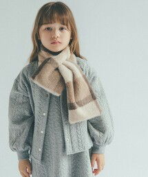 【KIDS】衍縫對襟外套