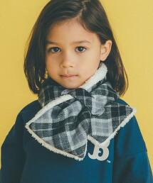 GLR 格紋 固定環 圍巾 日本製