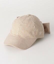 GLR 細格紋 蝴蝶結 棒球帽