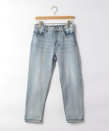 【JUNIOR】多臂織丹寧錐形褲