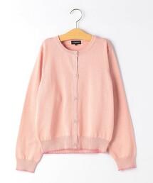 【JUNIOR】棉針織 花朵胡桃扣 對襟外套