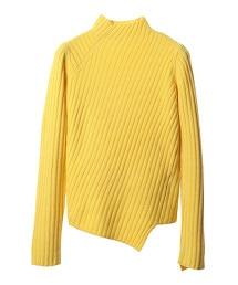 ASTRAET 7G 高領 不對稱 羅紋針織毛衣