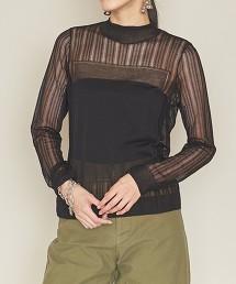 <ASTRAET>18G 高領 蕾絲針織毛衣