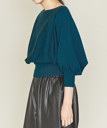 <ASTRAET>14G 米蘭羅紋 泡泡袖 針織上衣 日本製