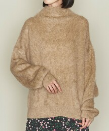 <ASTRAET>MO/NY 8G 高領套頭毛衣 日本製