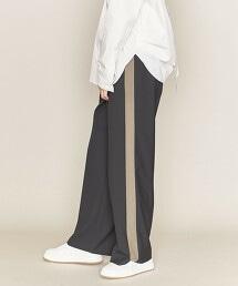 ASTRAET 側邊條紋 寬褲