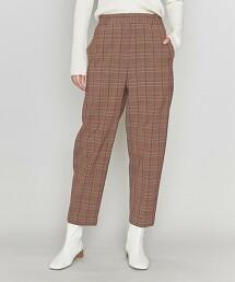 <ASTRAET>葛倫格紋 後鬆緊 錐形褲 日本製