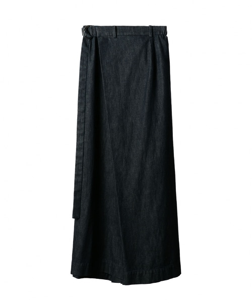 ASTRAET 丹寧 片裙式 寬褲