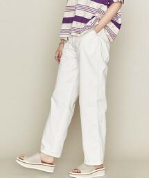 <ASTRAET>配色車縫線 直筒褲 WHITE 日本製